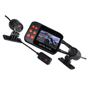 130 degree fisheye waterproof lens capture dual channel input motorcycle dash camera