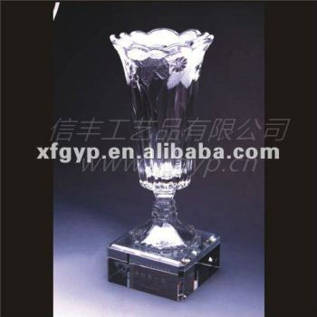 unique clear crystal vase sport crystal trophy cup