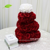 GNW special offer custom-made heart shape table decorations cute table artificial decor lovely rose table centerpiece