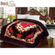 100% polyester new design korean style 2ply embossed 8 kg raschel blanket