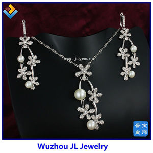 E&N low moq high quality China amber stone italian gold plated jewelry sets
