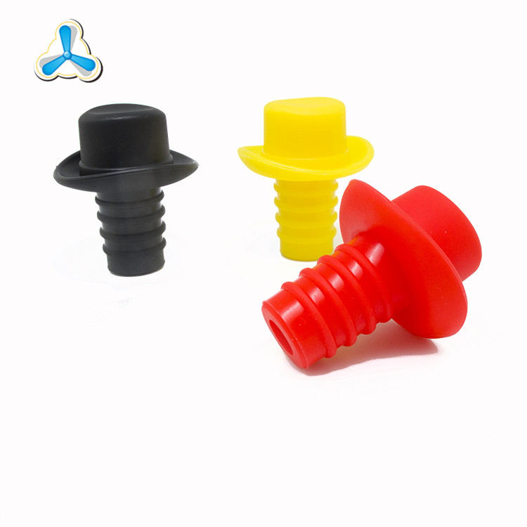 Chinese suppliers custom silicone wine bottle stopper wholesale