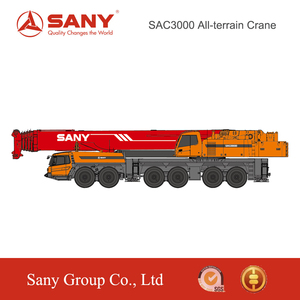 SANY SAC3000 300 Tons Excellent Performance Crane Hydraulic Mobile Floor Crane