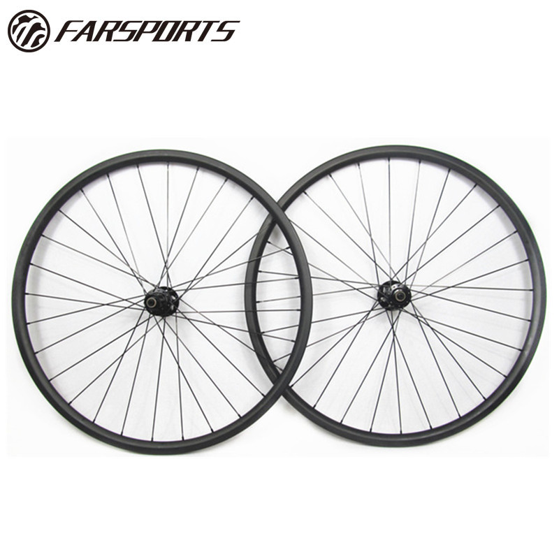 Alibaba.com / Tubeless ready 29er bicycle wheelset clincher rims 33mm 30mm hookless with Sapim spokes 32H/32H DT350 boost hub