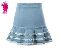 fashion women jean short skirt