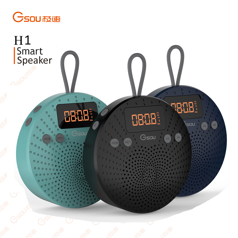 Gsou Mini Putaran Speaker Bluetooth Nirkabel, Bluetooth luar Speaker Hadiah, Mini Jamur Bluetooth Speaker Shenzhen
