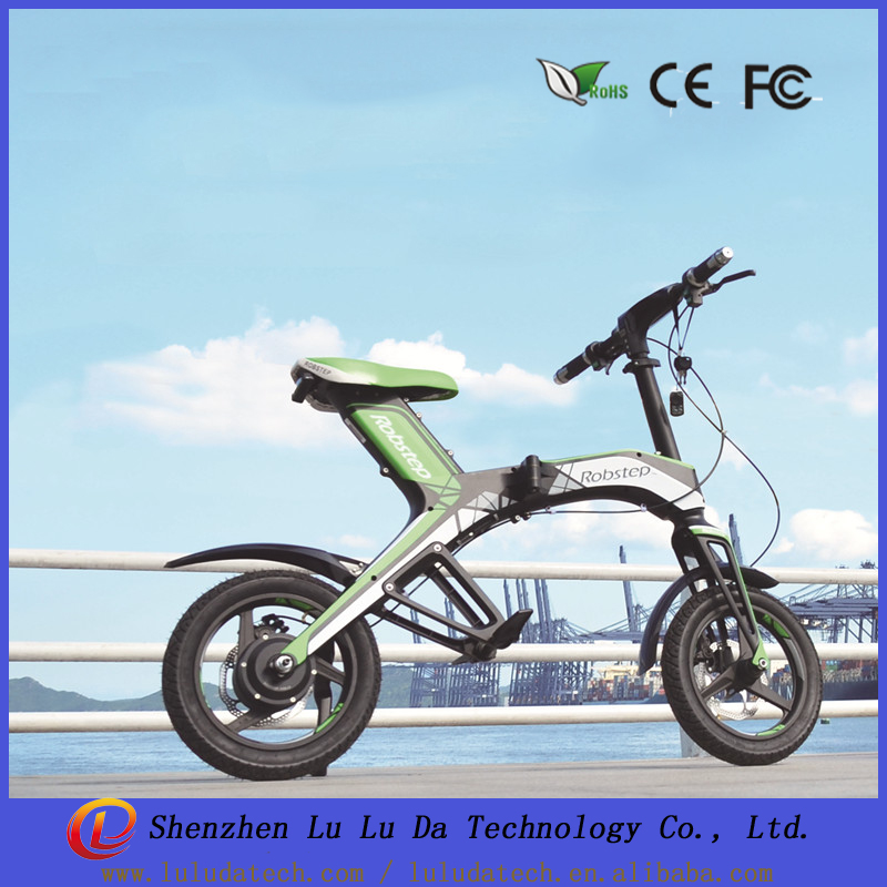 Robstep X1 Foldable electric <strong>bike</strong> 300W 48V 4.4AH electric bicycle