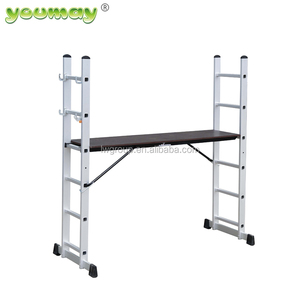 Aluminium portable adjustable ladder scaffoldings with EN131 Approval AM0406A