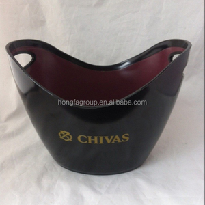 bar accessories, custom plastic ice bucket with handle