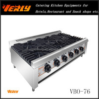 Stainless steel Desktop gas combination oven/ Range Gas stove with 6 burner VBO-76