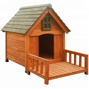 Wholesale Outdoor Large Wooden Big Dog House China Dog Kennel Cage