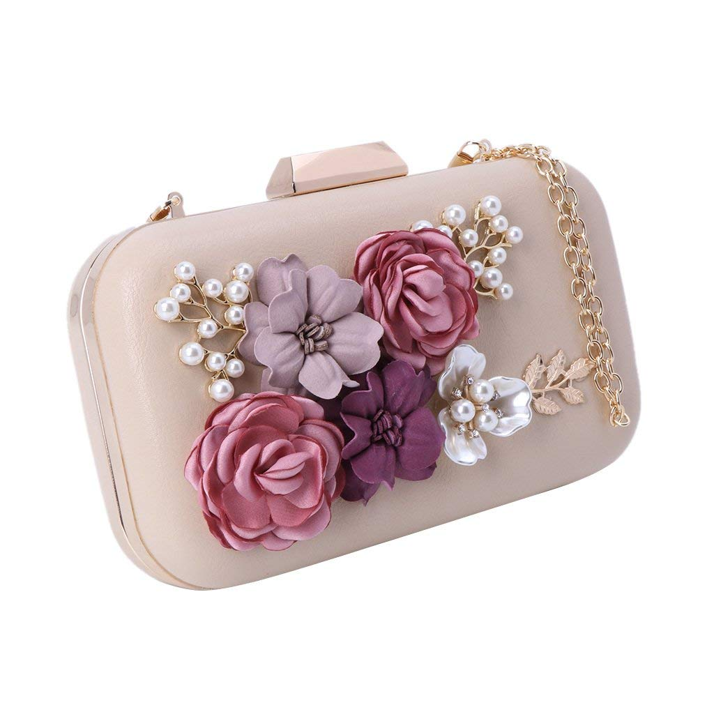 Techecho Bridal Clutch Purse Ladies Womens PU Handbag Clutch Evening Bag Purse Party Wedding Bags Frosted Handbag Party Color : Silver