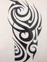 2016 Venda Quente 21X15 CM design de Moda em Preto e Branco Tatuagem Temporária Etiquetas Da Arte Corporal Temporária À Prova D' Água #60