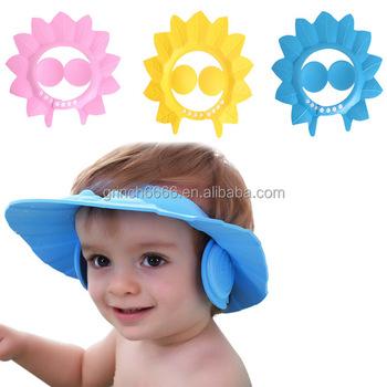 Safe Shampoo Baby Shower Cap Bathing Bath Protect Soft Visor Hat For Children Kids