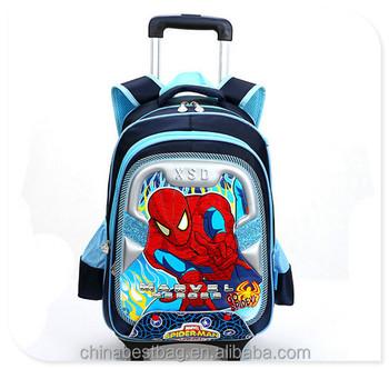 Ragno uomo trolley da cartone animato della scuola zaino bambino