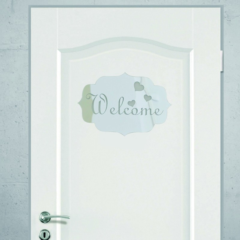 2017 Direct Selling 3D Acrylic Mirrored Door Plate Mirror