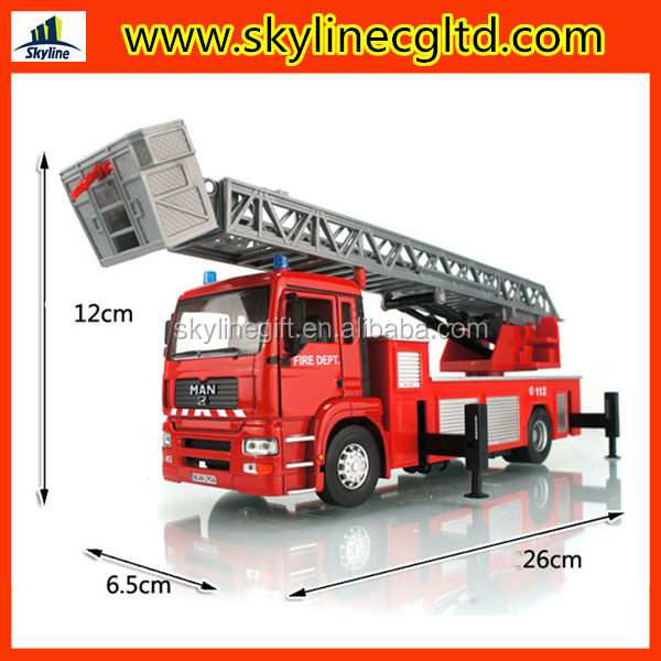 1:32 wholesale diecast fire truck toy