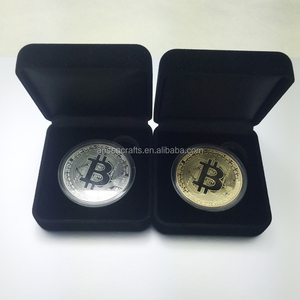 1oz 24k gold plated Bitcoin coin with displayed box
