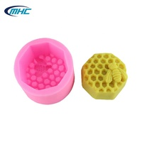 Wholesale Single Bee Honeycomb Shaped Silicone Handmade Soap Mold