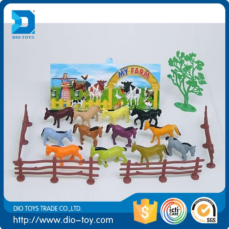 HOT SALES plastic toy forest animal crochet animal toy on hot sale mini plastic toy animal