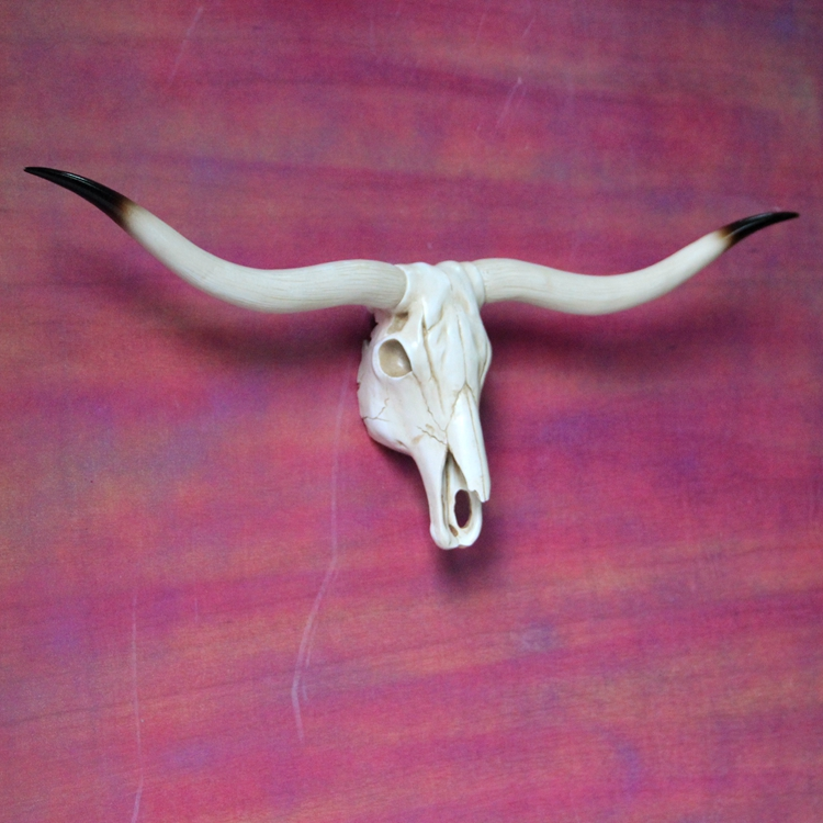 Wall Mounted Animal Longhorn Skull Resin Handicraft