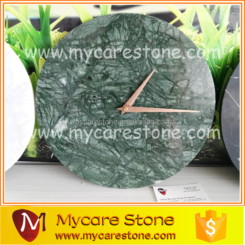 New design marble wall clock plate Green marble clock