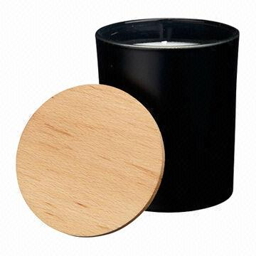 Wholesale Custom Round Matte Black Glass Candle Jar With Wooden Lid - Buy  Black Glass Jar,Matte Black Glass Candle Jar,Wholesale Custom Round Matte