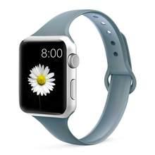 Ремешок для Apple watch, 5, 44 мм, 40 мм, iWatch, 38 мм, 42 мм, спортивный силиконовый браслет, ремешок для часов Apple watch 4/3/2/1, 44(Китай)