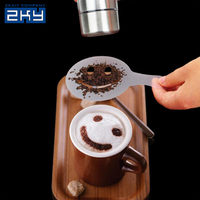 Cafe Foam Spray Template Barista Stencils Decoration Tool Coffee Pull Flower Mold
