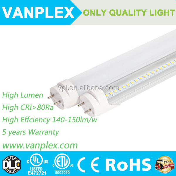 High lumen 10w good chips T8 LED Tube aluminum housing with long lifespan