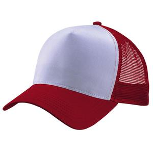 multi color white front panel 100 polyester mesh 5 panel blank cap for sublimation