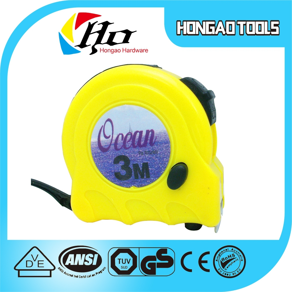 Hot sell new salable 3m 5m 7.5m 8m 10m rubber covered steel tape measuring