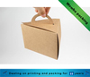 Brown creative kraft paper food grade box with paper handle