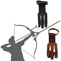 Archery Protect Glove 3 Fingers Pull Bow arrow Leather Shooting GlovesPromotion