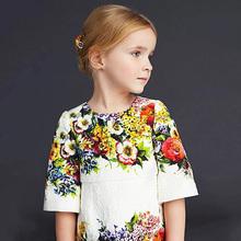 2016 New One piece Baby Kids Girls Flowers Floral font b Fancy b font Princess font