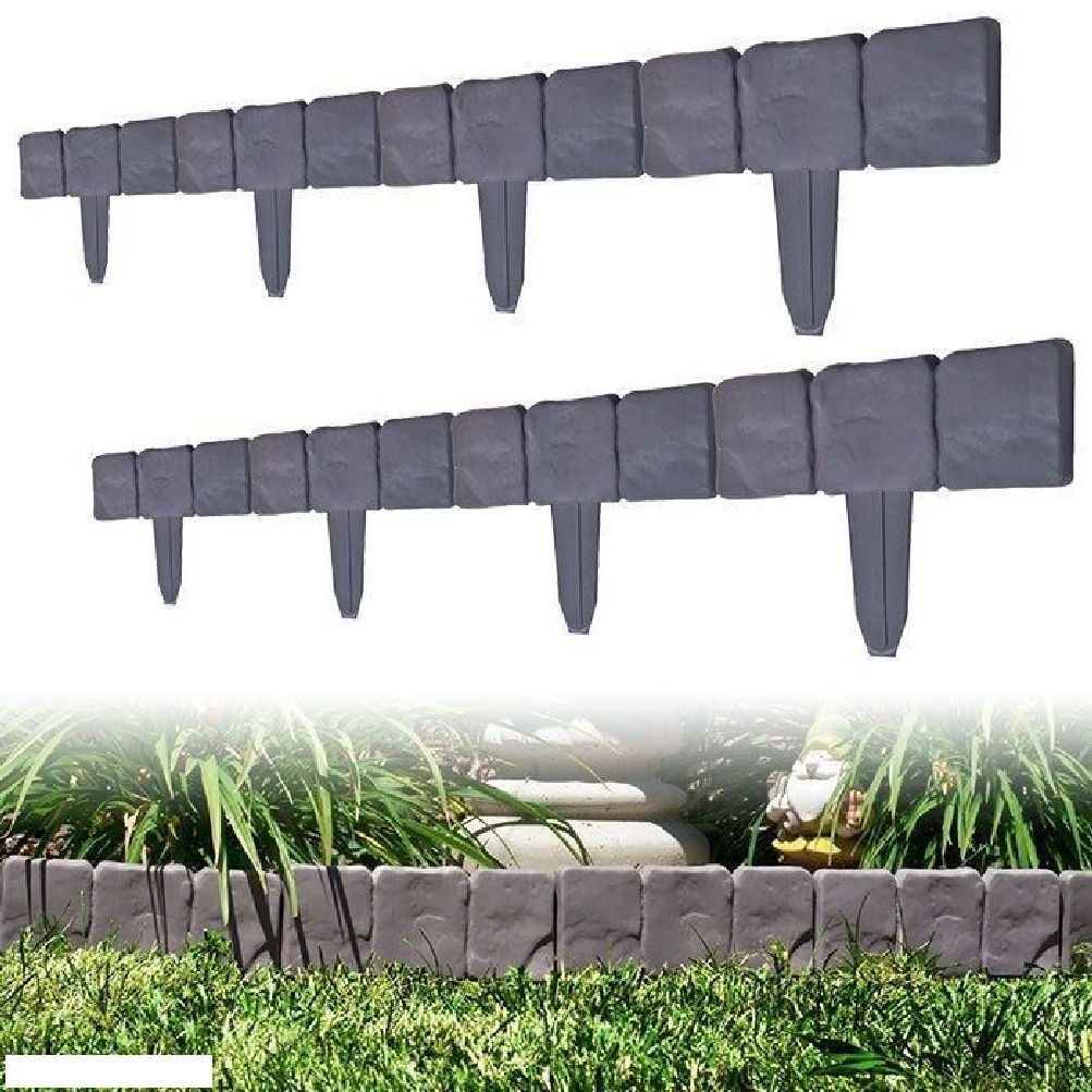 Buy 10 piece cobblestone flower bed border by pure garden in cheap 20 piece cobblestone flower bed border by pure garden 190 inches long izmirmasajfo