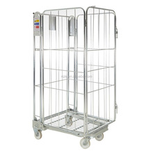 4 Wheels Foldable Steel Heavy Duty Transport Roll Cage Trolley