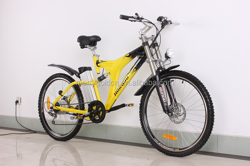 Buy merry gold yellow bee hot sale electric mountain bike 500W electrical bicycle with 500W motor and EN15194