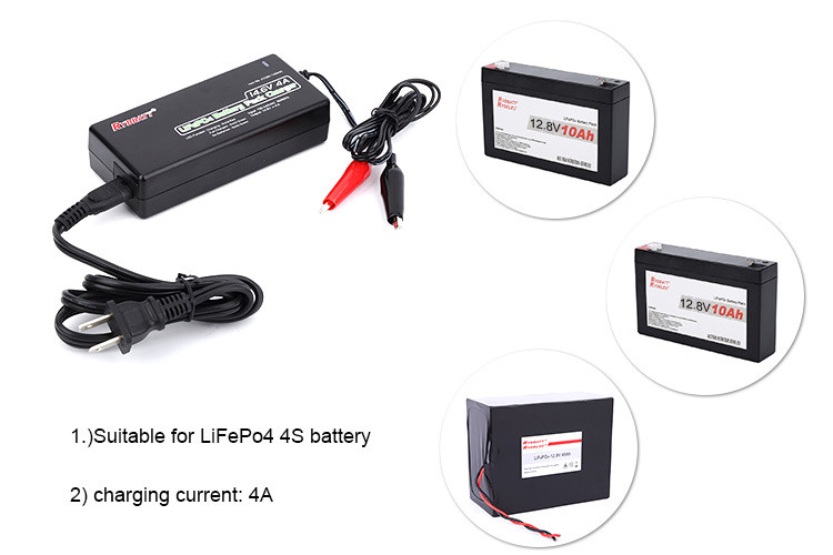 High quality 12.8V 4S LiFePo4 battery charger