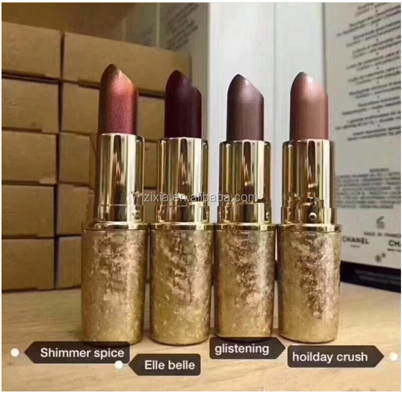 newest makeup cosmetics SNOW BALL HOLIDAY 2018 lipsticks SHIMMER ROUGE EN SNOW HOLIDAY CRUSH ELLE BELLE