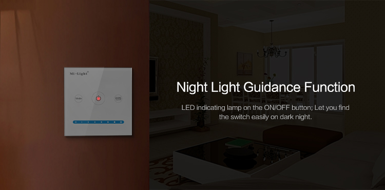 Mi-Light P1 60 Seconds Delay Off Control for LED Light Brightness Smart Panel Dimmer