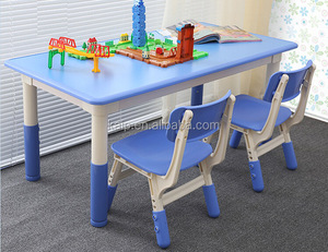 Hot selling height adjustable kids table and chair set