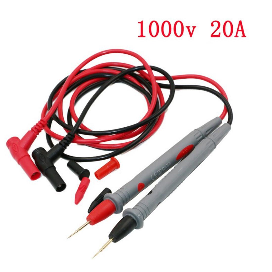 Portable Digital Multimeter Test Lead Probe Wire Pen Cable 1 Pair Universal  Digital Multi-sensor Test Pen 1000V 20A