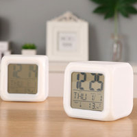 Temperature Display Small Bedside Clock for Kids Love Digital Cube Alarm Clock Wholesale