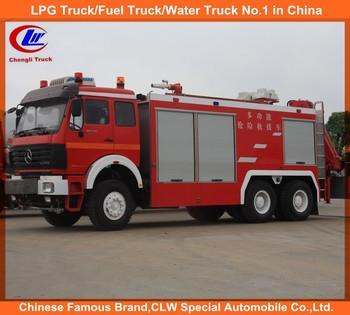 Beiben 6*4 fire engine truck 10Wheel Beiben fire trucks for sale Beiben 6*4  fire fighting truck for Dubai, View Beiben 6*4 fire fighting truck for