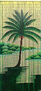 "Bamboo Painted Beaded Curtain ""Pili Lani"" - 90 Strands"