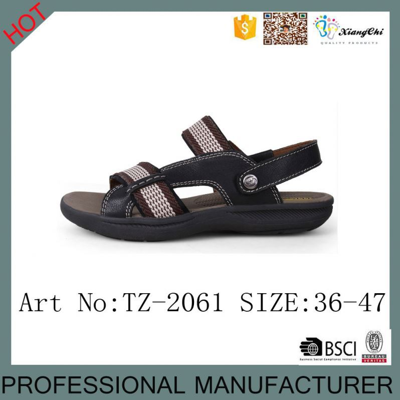 TZ-2061 Latest Style Comfortable Summer Leather Beach <strong>Sandals</strong> for Men