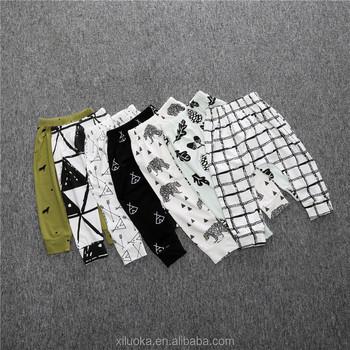fe78b6189 Newborn Baby Harem Pants Toddler Boy Print Cotton Trousers Leggings ...