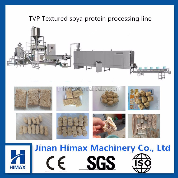 TVP/TSP Soya nugget making machine/soya chunk process line