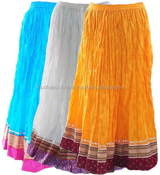 Buy Fabulous Indian Cotton Long Skirts For Loveones - Buy Lace ...